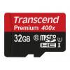 Transcend TS32GUSDU1PE UHS-I Premium Micro SDHC 32GB Class 10 Speicherkarte (400x) [Amazon frustfreie Verpackung]